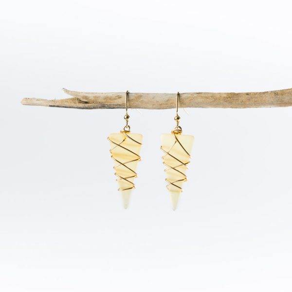 Desert-Gold-Gold-Small-Tipped-At-Seas-Earrings