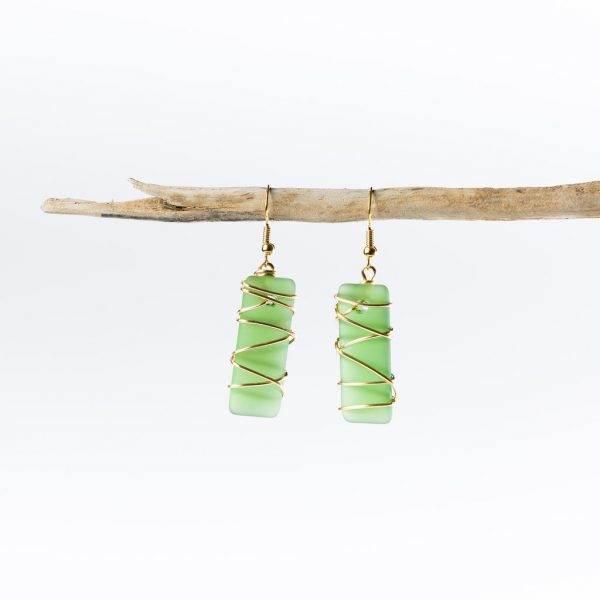 Shamrock-Gold-Twisted-Argentine-Seas-Earrings