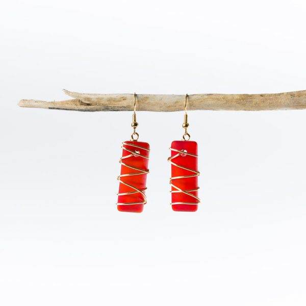 Scarlet-Gold-Twisted-Argentine-Seas-Earrings